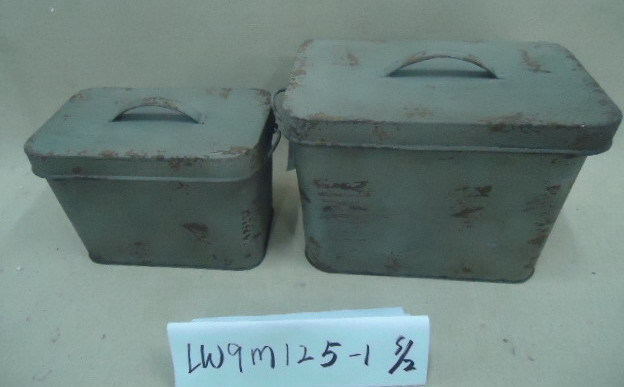 Decorative Metal Boxes With Lids : Lid rust different colors decorative small metal storage