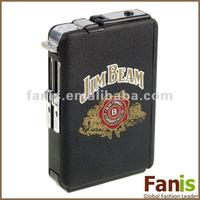 Hot sale metal Cigarette Case with Windproof Jet Torch cigarette Lighter