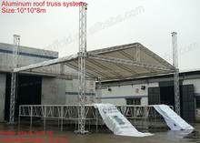 on sale aluminum roof truss system with stage,truss tent