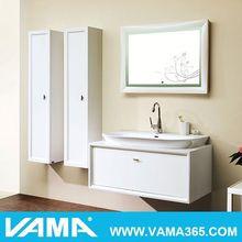 VAMA Contemporary Wall Mounted Double Sink Mirror Cabinet Bathroom