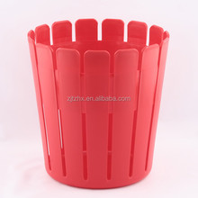 Plastic Wood Line Basket Trash Can Dustbin Trash Bin