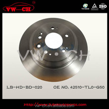 chinese manufactur back plate disc brake pads