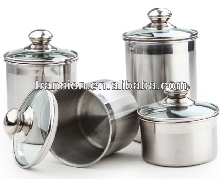 Stainless Steel Airtight Canister Food Container With