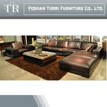 High quality antique cow leather sofa furniture