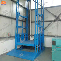 Four post electric cargo lift for warehouse
