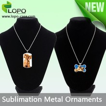 New style sublimation pet ornaments dog tag