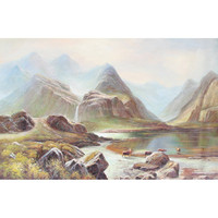 2015 Nice scenery oil paintings wholesale landscape wall pictures of oil paintings