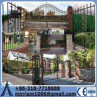 All kind of Electric Sliding Wrought Iron Metal gate(manufacturer)