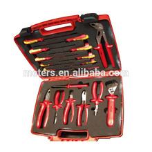 18 Pcs set aislado set herramientas mano