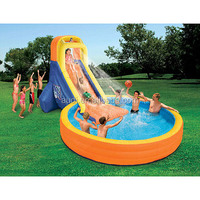 Banzai The Plunge Inflatable Water Slide and Pool