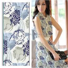 combed 100% cotton poplin fabric fashion flower digital printed cloth fabric for dress garments