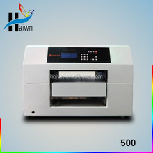 A3 size automatic printer , plastics/ toys/cup/glass digital flatbed printer with eco solvent ink, haiwn 500