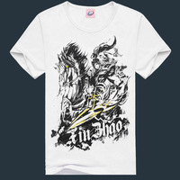 High quality white t-shirts,short sleeve custom print t shirt cotton plain white round neck t-shirts