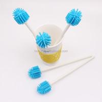 silicone cleaning Small Bottle Brush Baby milk Bottle Brush