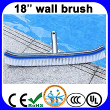Swimming pool 18'' cleaning metal back wall brush