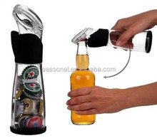 Multifunctional creative beer cap catcher storage bottle opener