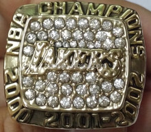 2000 Basketball Lakers Replic Championship Rings US Size 11 On Sale
