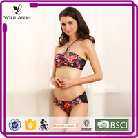 Lace Pattern Beautiful Sexual attraction sexy red teen bra and panty