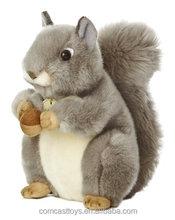 """Cute Grey Squirrel 8"""" Plush"""