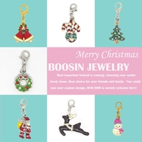 2015 Christmas enamel Santa claus snowman tree charm necklace Christmas Jewelry #B030