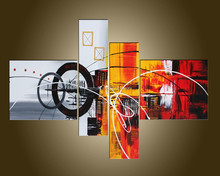 Hot Selling Most Popular Handmade Abstract Wall Decorate Group Of Pictures On Canvas