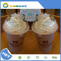 Plastic disposable cup colored clear tea cup ice cream plastic container dessert printed cups