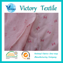 65%polyester 35%Viscose Single Jersey Fabric Flocked Wholesale for Garment,T-shirts,etc