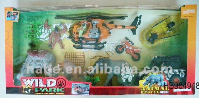 Salvaje animales de rescate juego set, De los niños juguetes de aventura, Salvaje parque de animales
