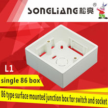 L1 86 type Plastic Junction Box For Switch And Socket