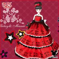 Fashion Disney high end dressed up doll 11 doll clothes