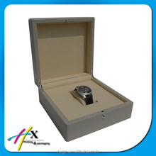 Newest Design Wood Plastic Watch Box with Button Lock