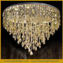 Manufacturer wholesale crystal ceiling lamp for hotel living room made in china