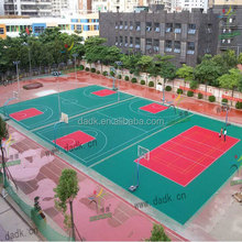Anti-slip PP sports floor ECO Frendly PP Interlock Basketball