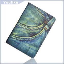 wholesale alibaba new products fashion jeans style design tablet pc stand case cover for ipad mini
