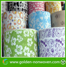Colorful printed non woven bag for shopping tote bag, hydrophobic non-woven fabric grocery bag making