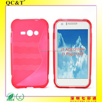 Free Sample Soft TPU Water Ripple S line Case Cover for Samsung J1 ACE J110H J1 Pop J110F