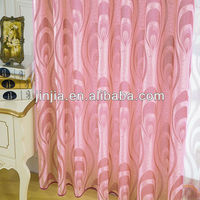 luxury design sheer fabric can be ready made curtain