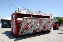 New year of CE certificated Mobile coffee shop , Outdoor fast food kiosk , Container coffee shop design