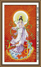 NEW FAMOUS DIY BEAUTIFUL KWANON DIAMOND ROOM PAINTING FOR BUDDHA`S LIGHT SHINES