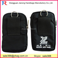 Black polyester multifunction phone/pen/comestic packing bags promotional