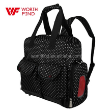 Tote / Shoulder / Backpack Baby Nappy Changing Bag Polka Dots