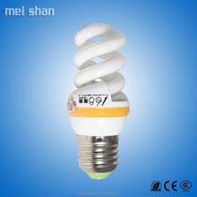 15w CFL bulb small full spiral shape fluorescent energy saving lighting