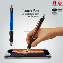 Black touch rubber grip metal ball pen