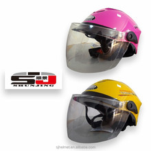 ABS motorcycle open face half helmet
