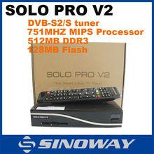 digi satellite receiver tv box BCM7325 DVB-S2 tuner Enigma 2 Linux PVR sharing Youtube Sat box Solo Pro hd v2