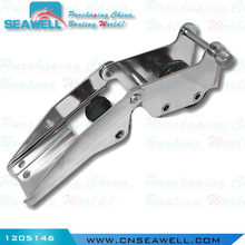 Marine Stainless Steel Hinged Pivoting Boat Anchor Bow Roller with Locking Pin