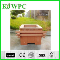 eco-friendly beautiful ourdoor garden (wood plastic composite) wpc plant and flower pot