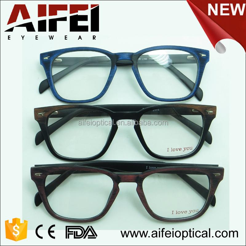 Best Designer Eyeglass Frames 2015 : 2015 Popular Cp Injection Designer Wood Brushed Eyeglass ...