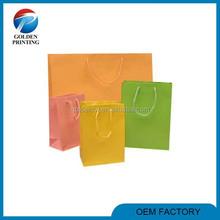 Custom handmade shopping cotton handle paper bag