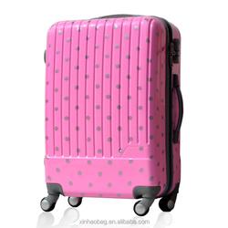 PC shining film popular pc abs travel luggage